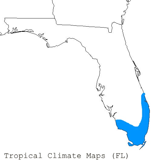 Climate Map Of Florida.Florida Tropical Climate Map Weather Climate Palmtalk